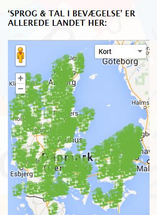 Sproggrens Danmarkskort